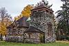 D309-2013  Starkweather Memorial Chapel, northwest corner.<br /> <br /> Highland Cemetery, Ypsilanti, Michigan<br /> November 45, 2013